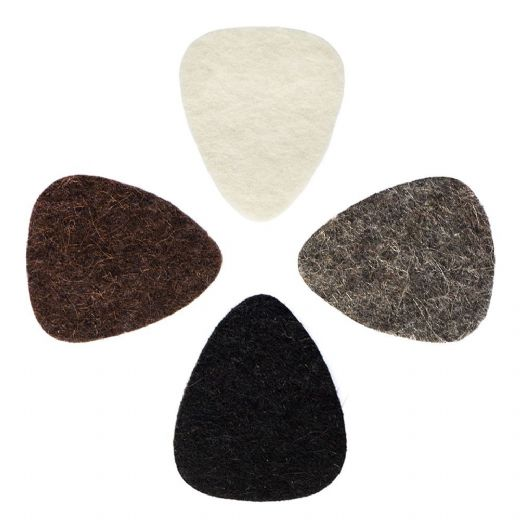 Felt Tones Mixed Pack of 4 Guitar Picks